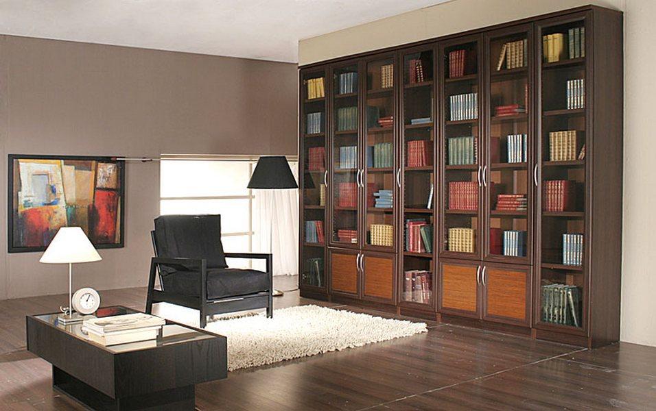 """Домашняя библиотека """"венге"""", большой выбор библиотек от прои."""