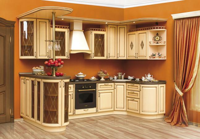 Кухня «Парма» цвета слоновая кость