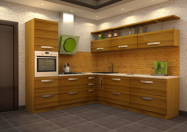 Кухня «Зебрано угловая»