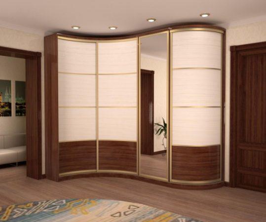 Шкаф-купе «Волна» — красивый шкаф с плавными линиями изгиба