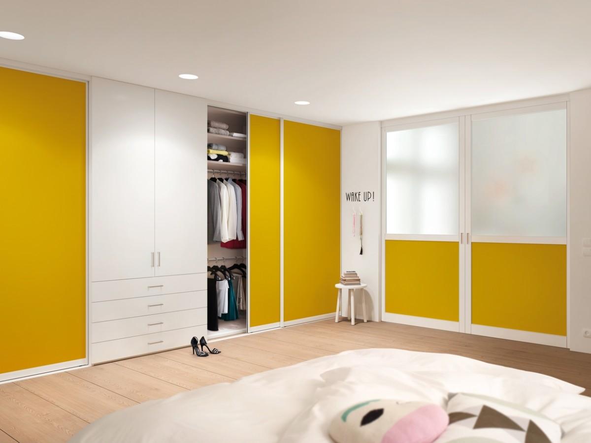 Комплект «Ян» — распашной шкаф с гардеробной