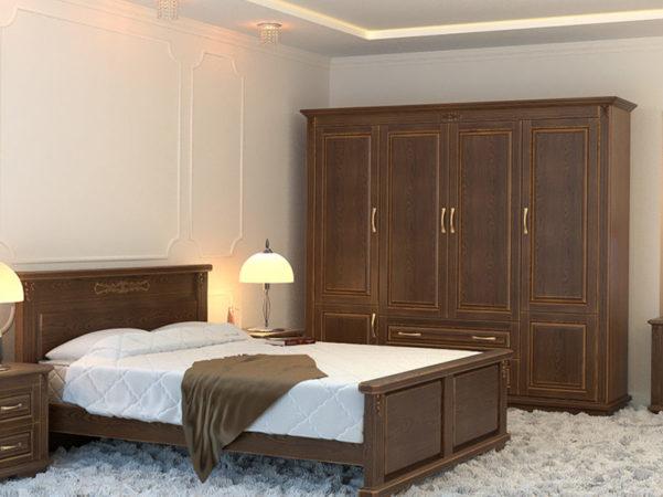 Шкаф «Крона» — распашной классический шкаф из цельного бука