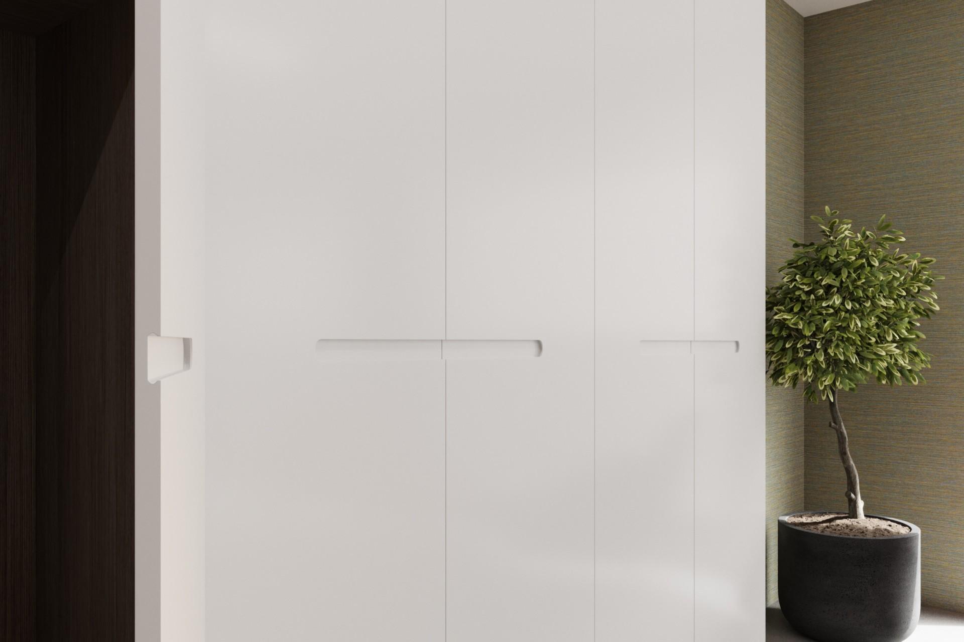 Шкаф из МДФ в белом цвете «Венето»