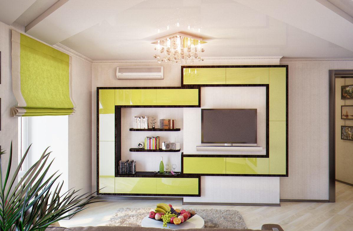 Ультрасовременная стенка для гостиной «Тетрис»