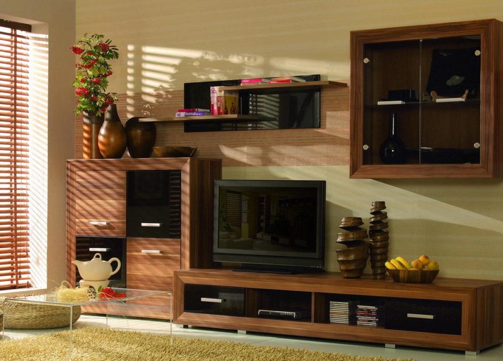 Модульная система для гостиной «Шоколад»