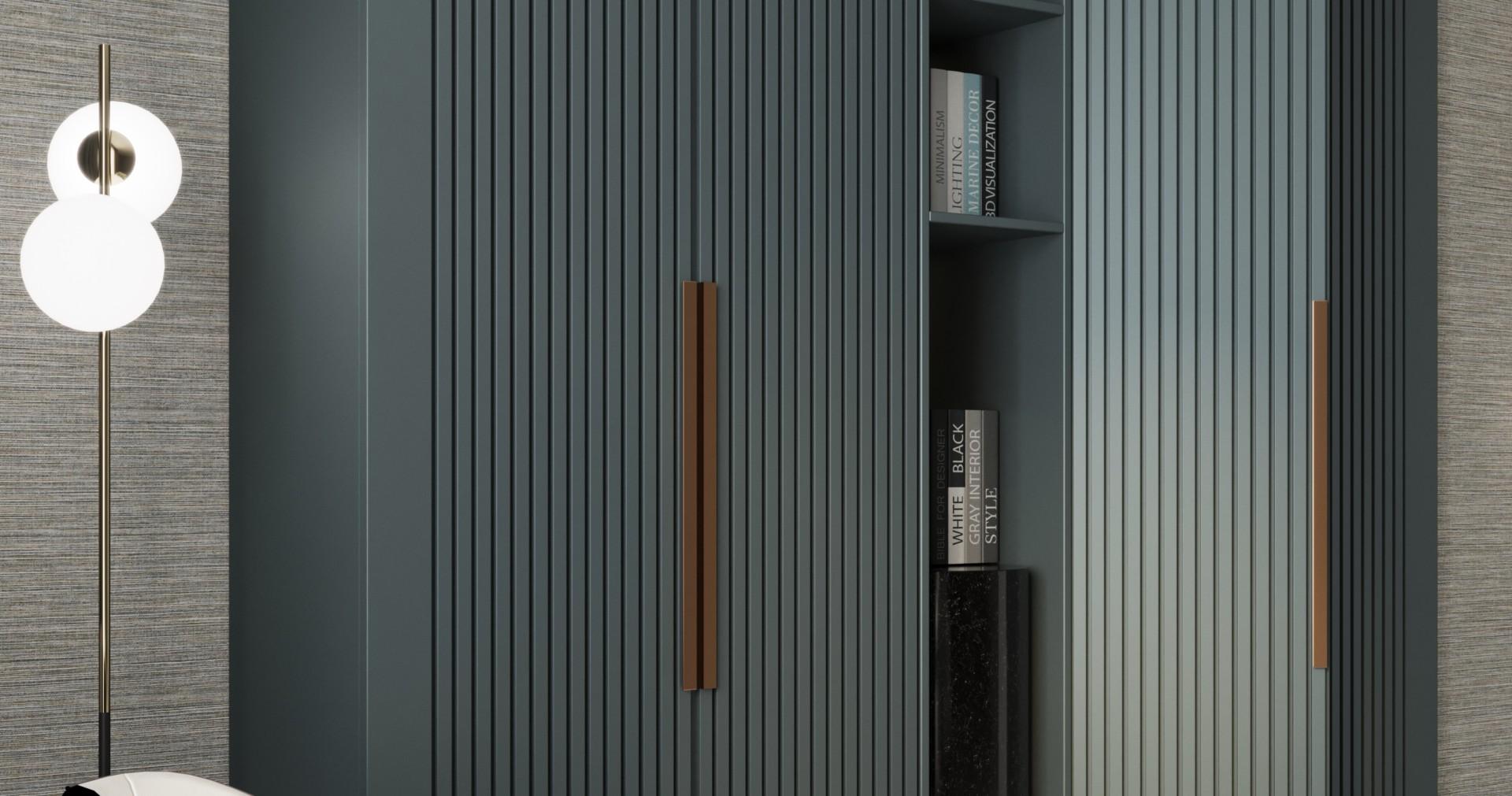 Шкаф с 3d фасадами серого цвета «Партитон»