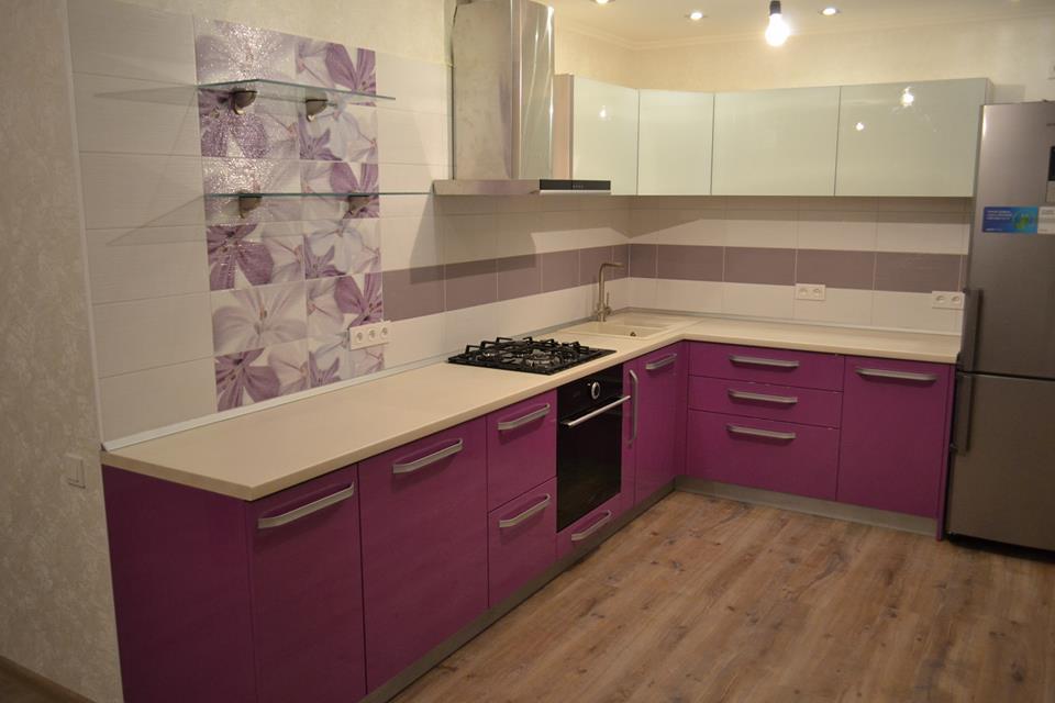 Кухня Pink в стиле Модерн
