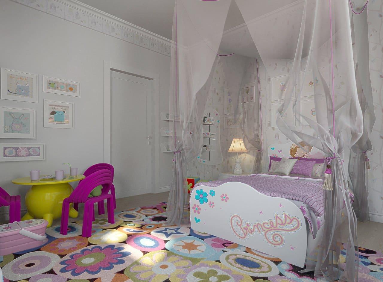 Нежная детская для маленькой принцессы