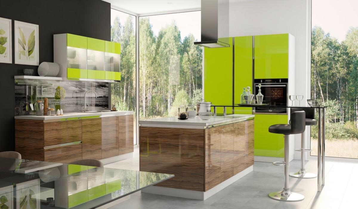Кухня «Wood» с фасадом ALVIC