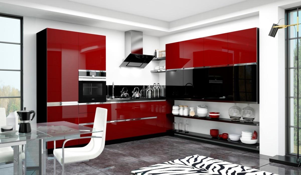 Кухня «Gloss» с ультра глянцевым фасадом ALVIC