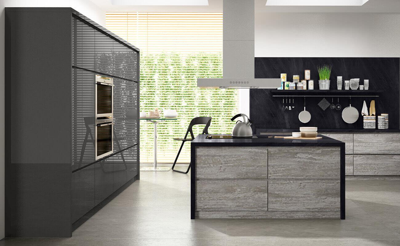 Кухня «Intense» с бриллиантовым блеском Alvic