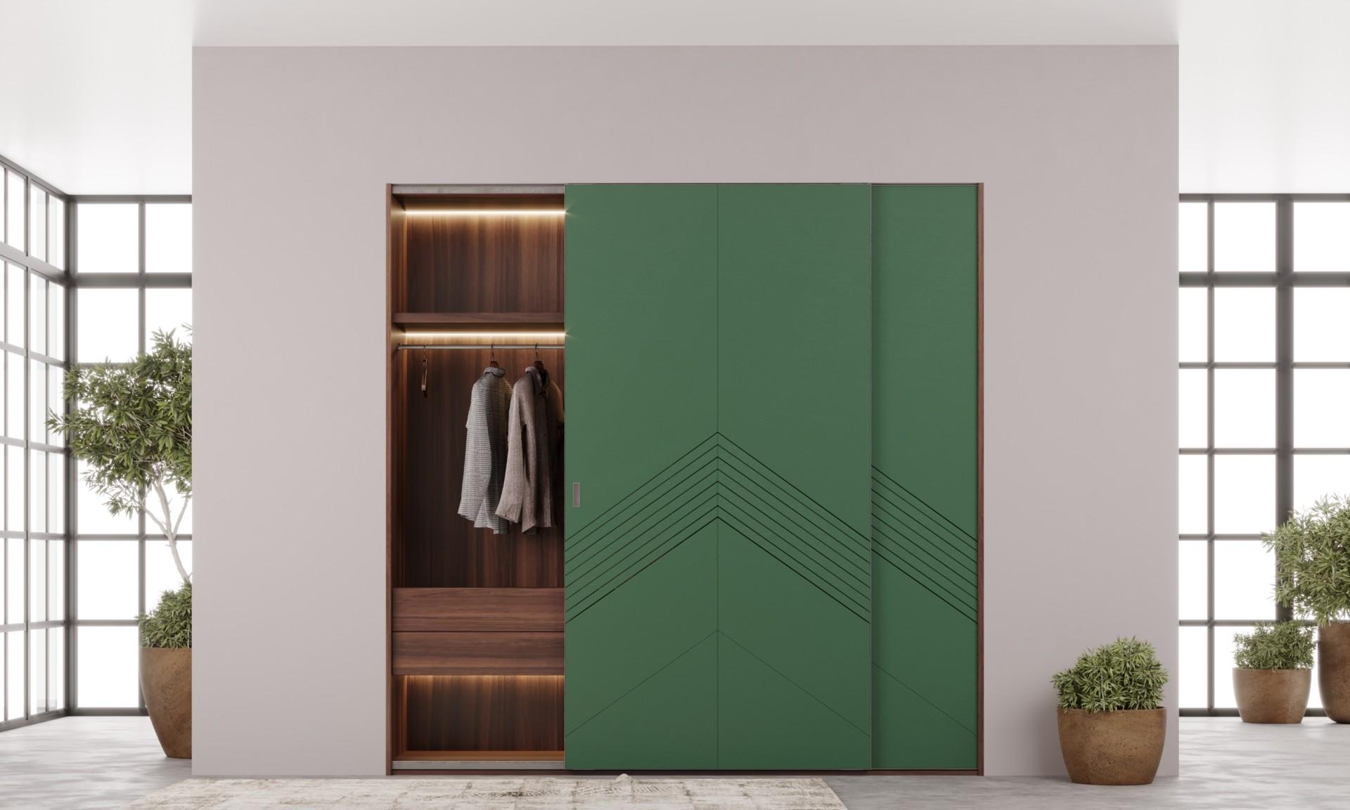 Шкаф «Мадлен» — встроенный купе шкаф с фрезеровкой фасада
