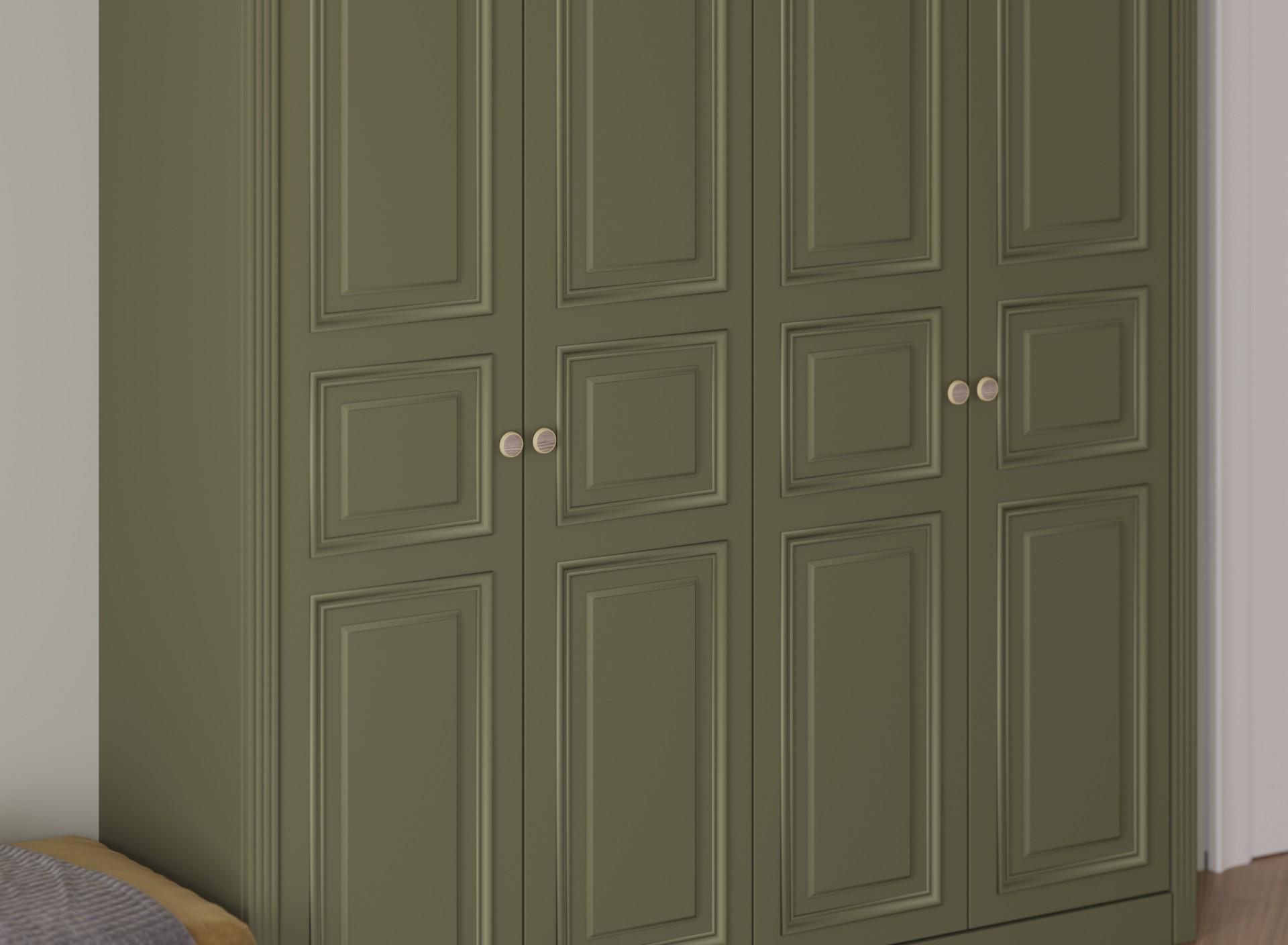 Шкаф «Felissimo» классический из массива оливкового цвета