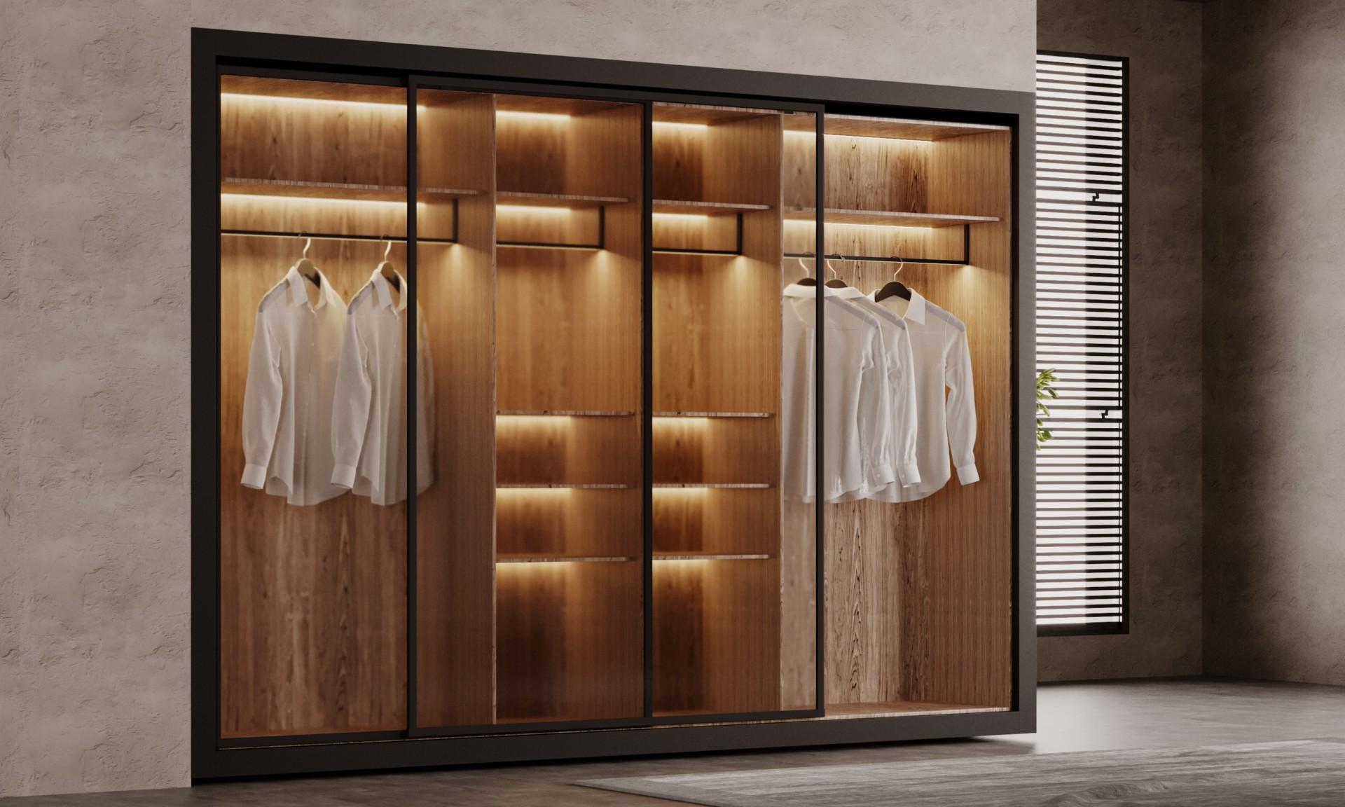 Система хранения «Ризот» — шкаф со стеклянными фасадами