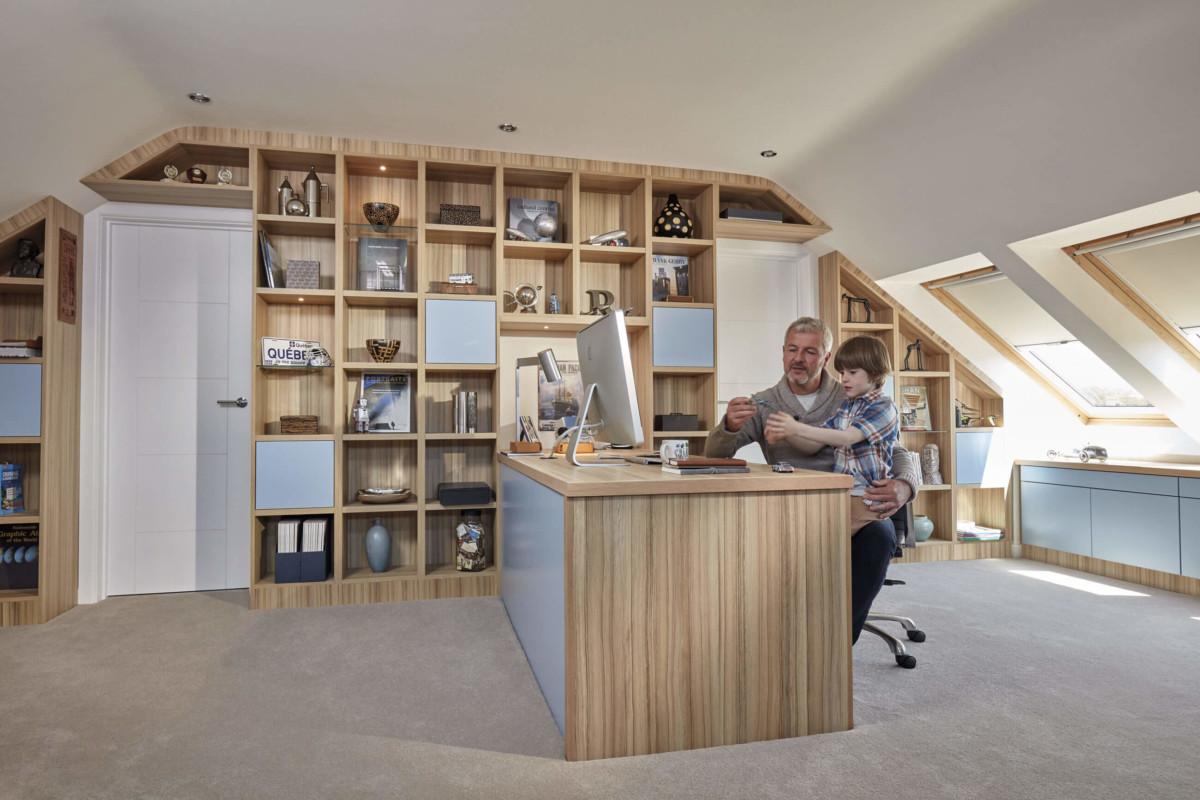 Мебель для кабинета на мансарду «Зерра»