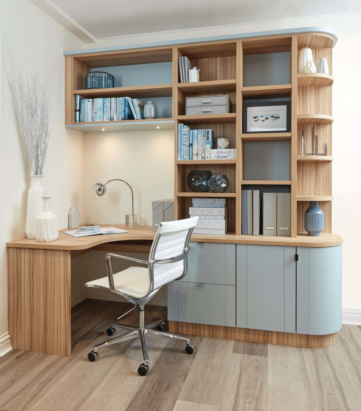 Мебель для кабинета «Арктос» с гнутыми фасадами