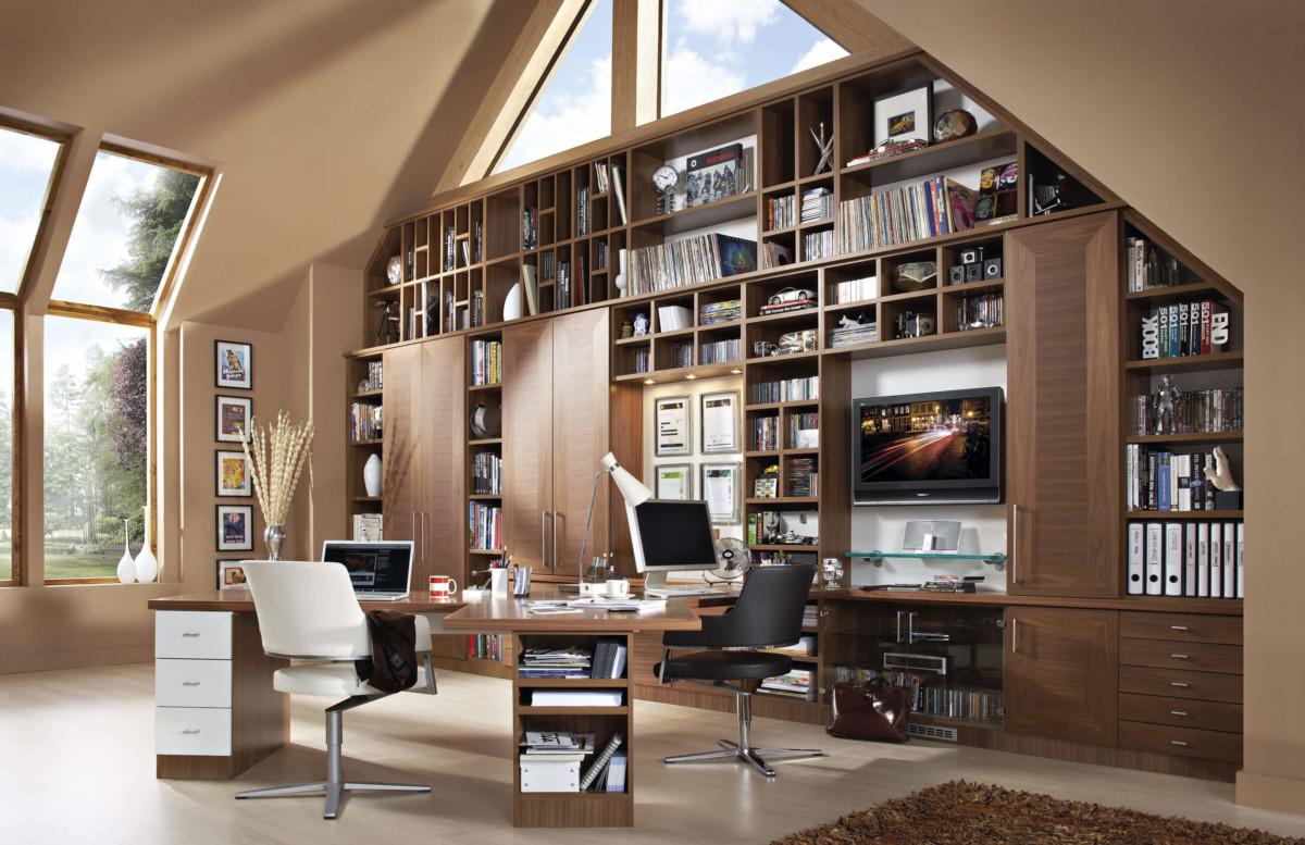 Мебель для кабинета/библиотеки под крышу «Апполон»