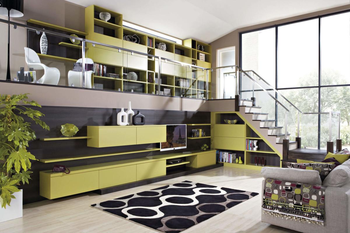 Гостиная в дом с лестницей «Лиана»