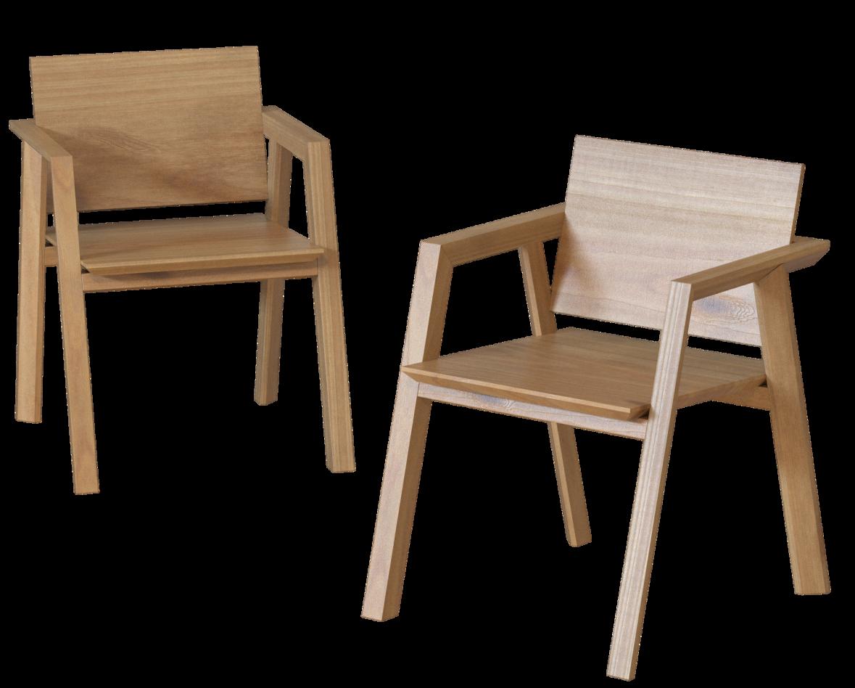 Дизайнерские стулья из массива «Quiet»