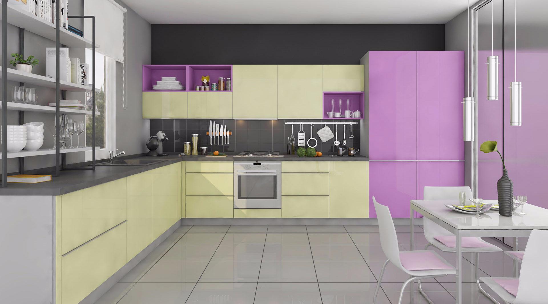 Кухня «Bonbon» в пастельных цветных тонах